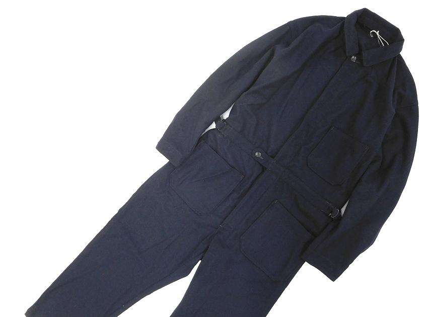 定価6万 KAPTAIN SUNSHINE キャプテンサンシャイン Work Suit カシミヤ混 オールインワン つなぎ 38 /ka20180515-7 /メンズ