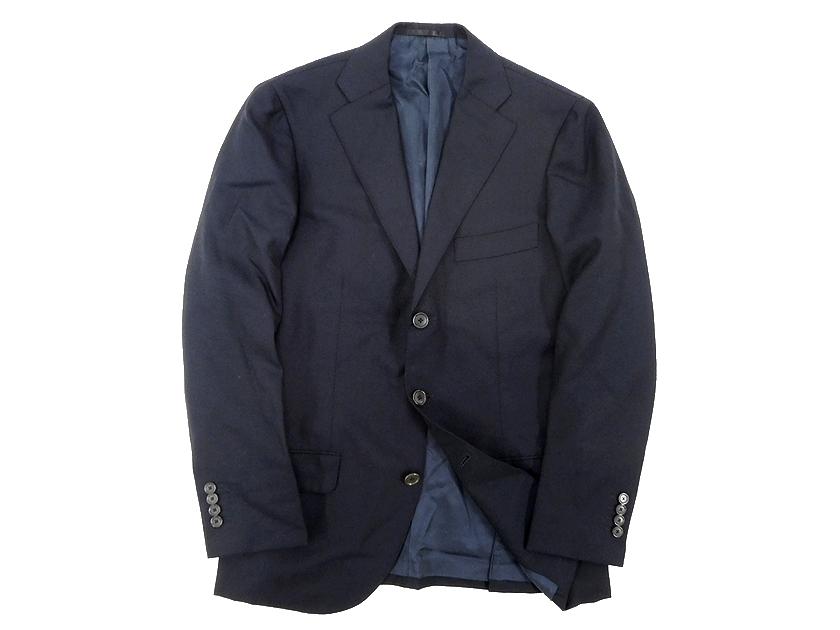 中古 TOMORROWLAND トゥモローランド VITALE BARBERIS CANONICO 3B ウール テーラードジャケット ネイビー 46 /ka20180710-7 /メンズ
