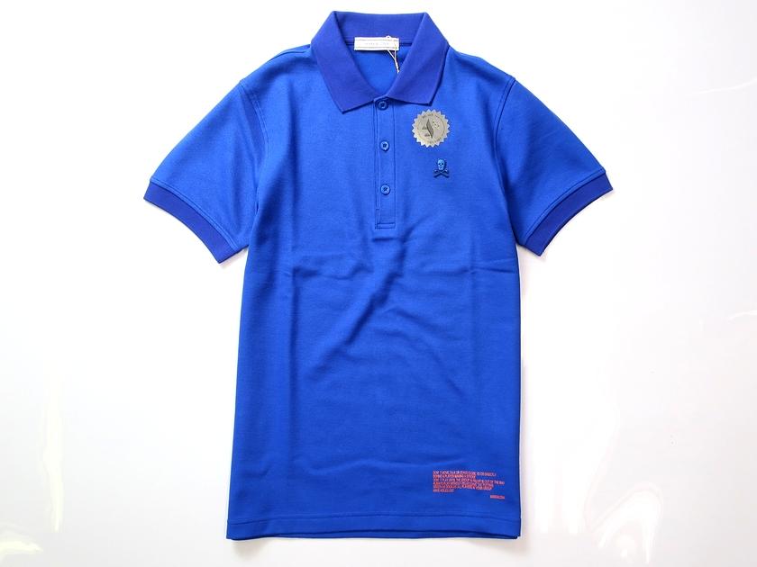 MARK&LONA マーク & ロナ 18AW ポロシャツ 半袖 ゴルフ ブルー 44-01 46-02 48-03 50-04 ▲060▼90411a02