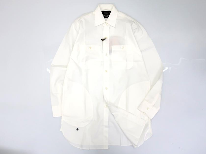 LYBRO ライブロ Nigel Cabourn ナイジェルケーボン ビッグシャツ 長袖 サイドポケット コットン100% ホワイト 44▲040▼90508a10