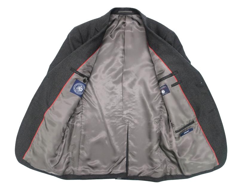 J.PRESS Jプレス シングルスーツ PEPPIN MERINO使用 ウール100% 無地 3B ジャケット パンツ グレー A4▲200▼90524a10