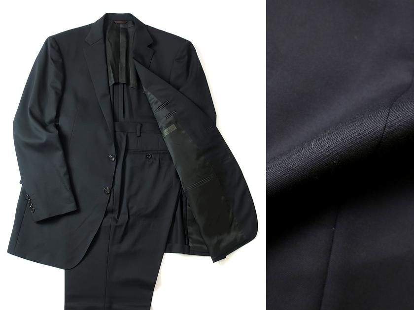 日本製 D'URBAN ダーバン r.a.s.o ウール100% シングルスーツ 2B ジャケット パンツ 黒 BB8/ar190226_15w