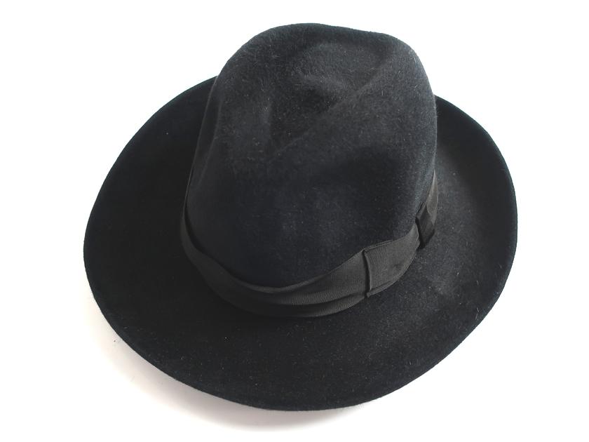 WACKO MARIA GUILTY PARTIES 東京HAT ROCKERS ワコマリア ラビットファー ハット HAT-02-BASQUIAT-MAGA 新品 日本製 定3万 帽子 黒 S-01 M-02 L-03▲080▼90516k06