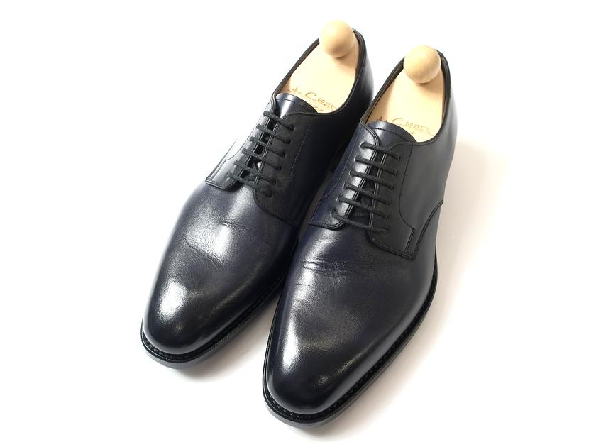 日本製 大塚製靴 Otsuka SINCE 1872 本革 Dainite SOLE 外羽根 グッドイヤーウェルト製法 プレーントゥ レザーシューズ 革靴 紺 6.5/ki190212_12w 7/ki190212_13w 7.5/ki190212_14w 8/ki190212_15w 8.5/ki190212_16w 9/ki190212_17w