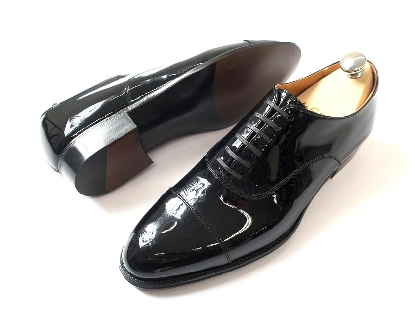 日本製 定価7.8万 大塚製靴 Otsuka SHOTEN 大塚商店 本革 グッドイヤーウェルト製法 エナメル ストレートチップ レザーシューズ 靴 黒 6.5/ki190212_2w 7/ki190212_3w 8.5/ki190212_4w 9/ki190212_5w