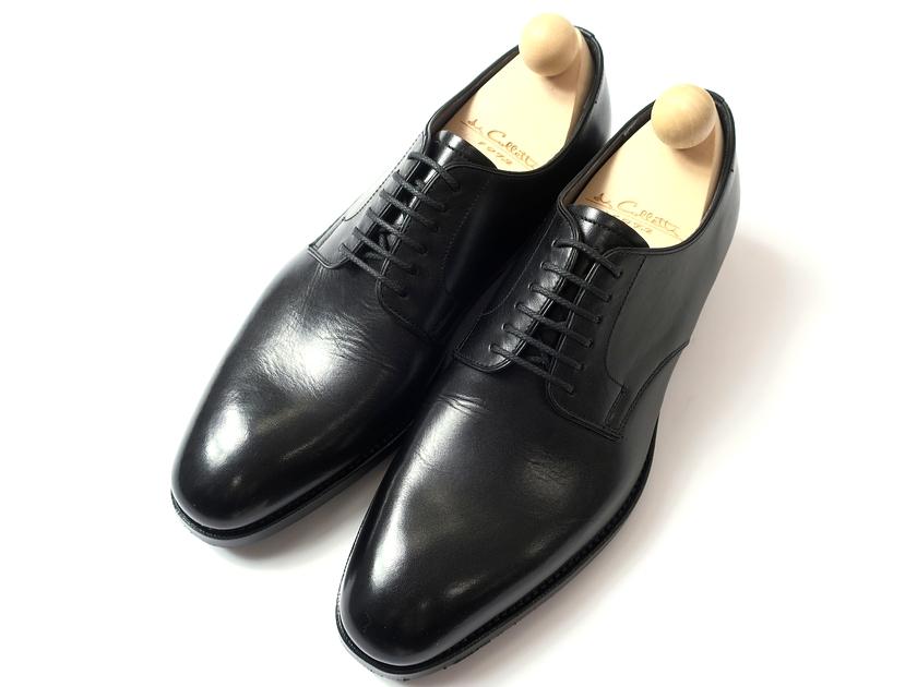 日本製 大塚製靴 Otsuka SINCE 1872 本革 Dainite SOLE 外羽根 グッドイヤーウェルト製法 プレーントゥ レザーシューズ 革靴 黒 6.5/ki190212_7w 9/ki190212_8w