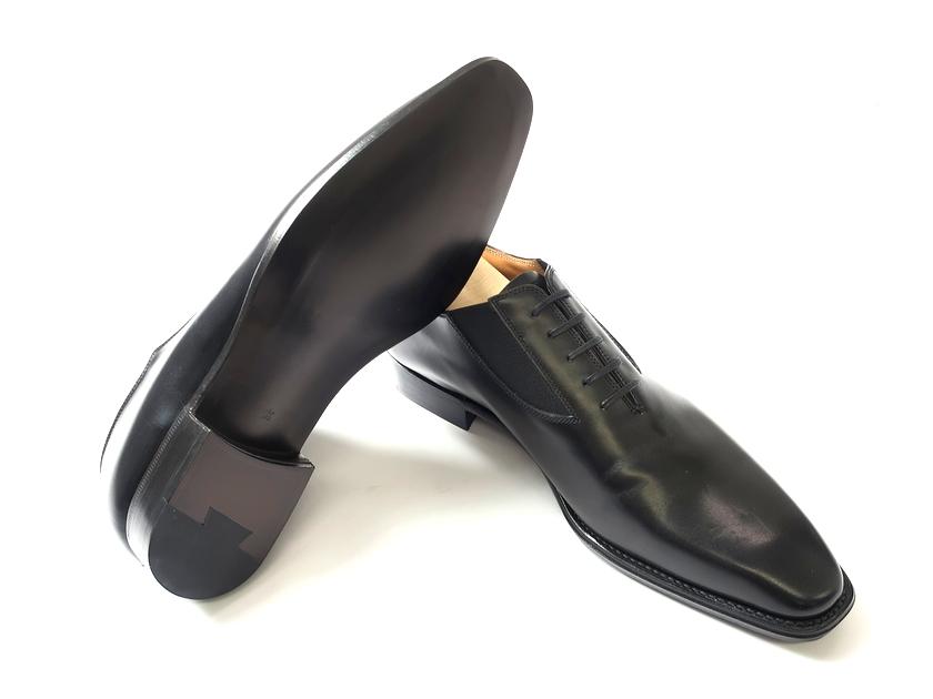 日本製 定価7.8万 大塚製靴 Otsuka SHOTEN 大塚商店 本革 グッドイヤーウェルト製法 サイドゴア ホールカット レザーシューズ 革靴 黒 8.5/ki190213_1w 9/ki190213_2w
