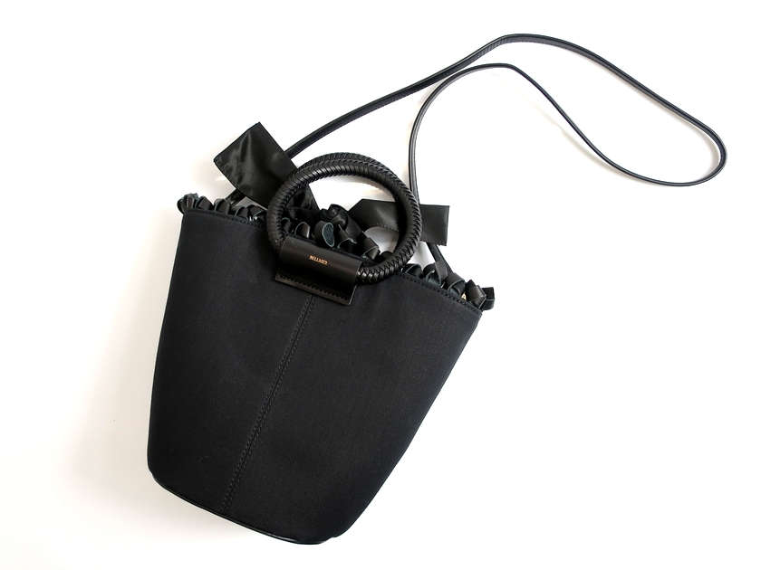 BELLMER ベルメール LODZ HANDLES TOTE 2WAY レザー ショルダーバッグ 日本製 定5.2万 ブラック ▲080▼90701k02