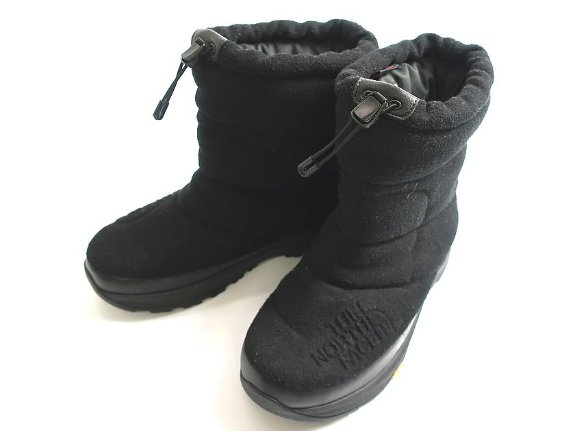 THE NORTH FACE ノースフェイス NF51880 Nuptse Bootie Wool Luxe 4 ヌプシ ブーティー ウール ラックス Vibramソール 黒9▲065▼90701k13
