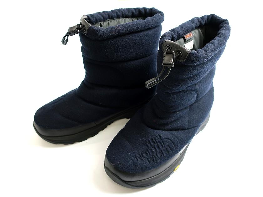 THE NORTH FACE ノースフェイス NF51880 Nuptse Bootie Wool Luxe 4 ヌプシ ブーティー ウール ラックス Vibramソール 紺9▲065▼90701k14