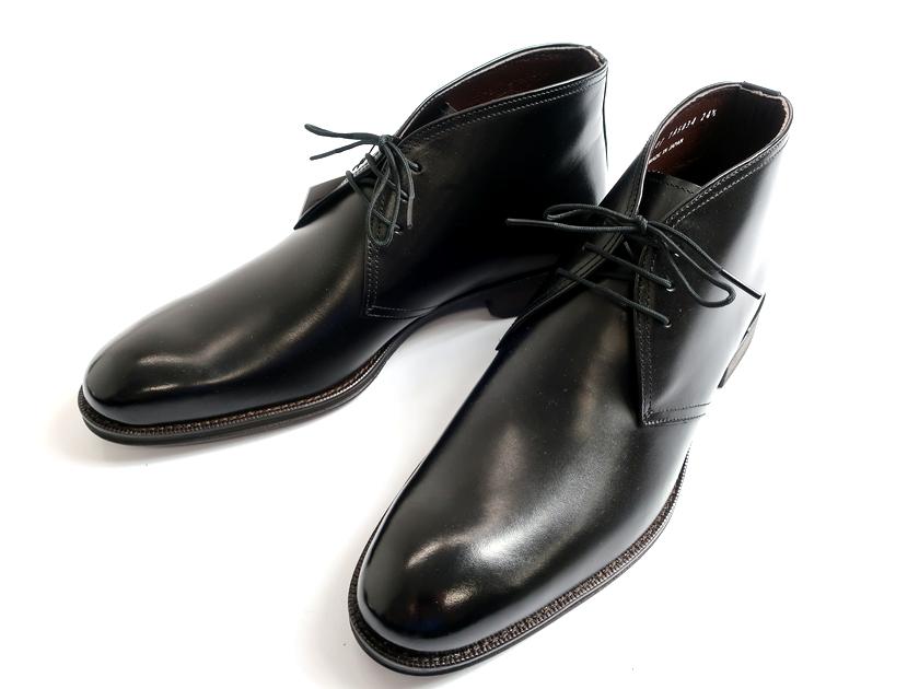 TAKEO KIKUCHI タケオキクチ マドラス社製 日本製 チャッカ レザーシューズ ビジネスシューズ 靴 黒 24.5▲060▼90709k11