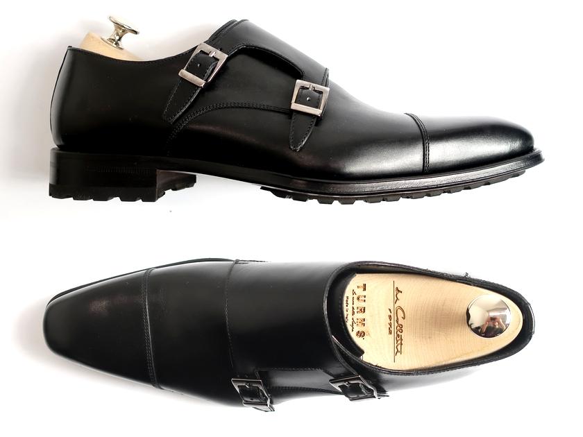 madras マドラス イタリア製 ダブルモンク ストレートチップ レザーシューズ ビジネスシューズ 靴 黒 8▲100▼90709k24
