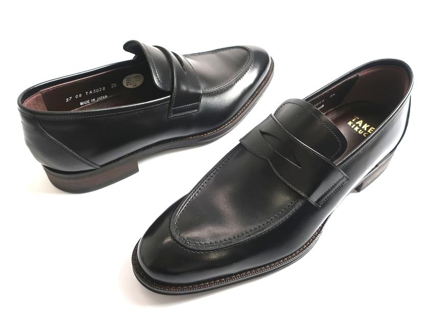 TAKEO KIKUCHI タケオキクチ マドラス社製 日本製 レザー ローファー ビジネスシューズ 靴 TA5028 黒 25▲060▼90710k07