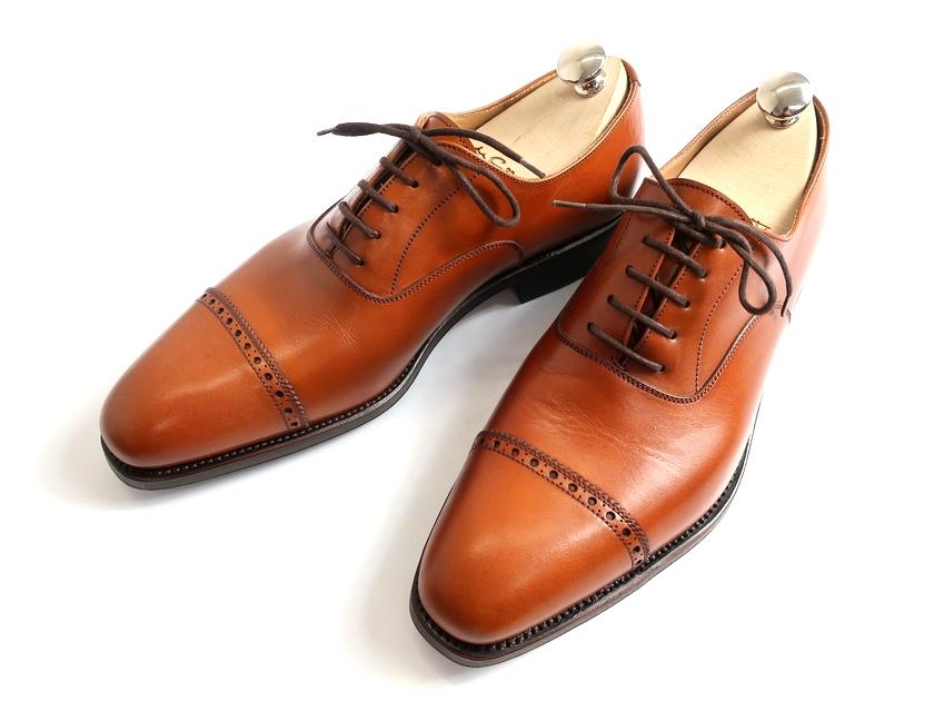 CARMINA カルミーナ 80324 グッドイヤーウェルテッド製法 ストレートチップ パンチキャップ レザー ビジネスシューズ 革靴 定6万 ブラウン 7.5▲150▼90812k17