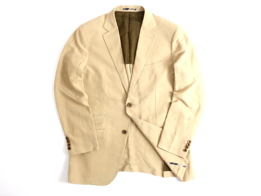 THE SCOTCH HOUSE スコッチハウス 日本製 シルク リネン混 テーラードジャケット 定7.1万 ベージュ L▲100▼90910k04