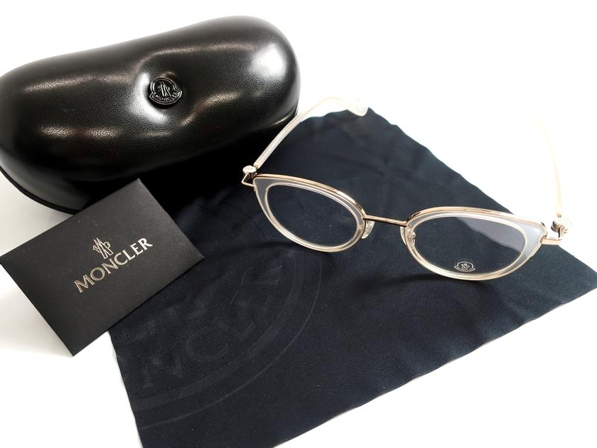 MONCLER モンクレール イタリア製 19AW ML5025 024 キャッツアイ クリアレンズ メガネ 眼鏡 サングラス 定3.8万 クリア ▲078▼91114k01