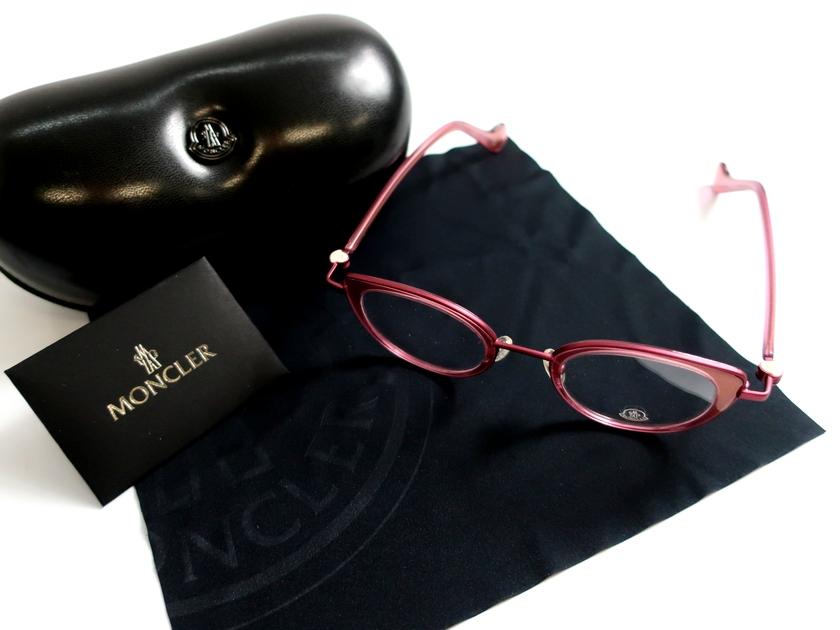 MONCLER モンクレール イタリア製 19AW ML5025 077 キャットアイ クリスタルレンズ メガネ 眼鏡 サングラス 定3.8万 ピンク▲078▼91114k16