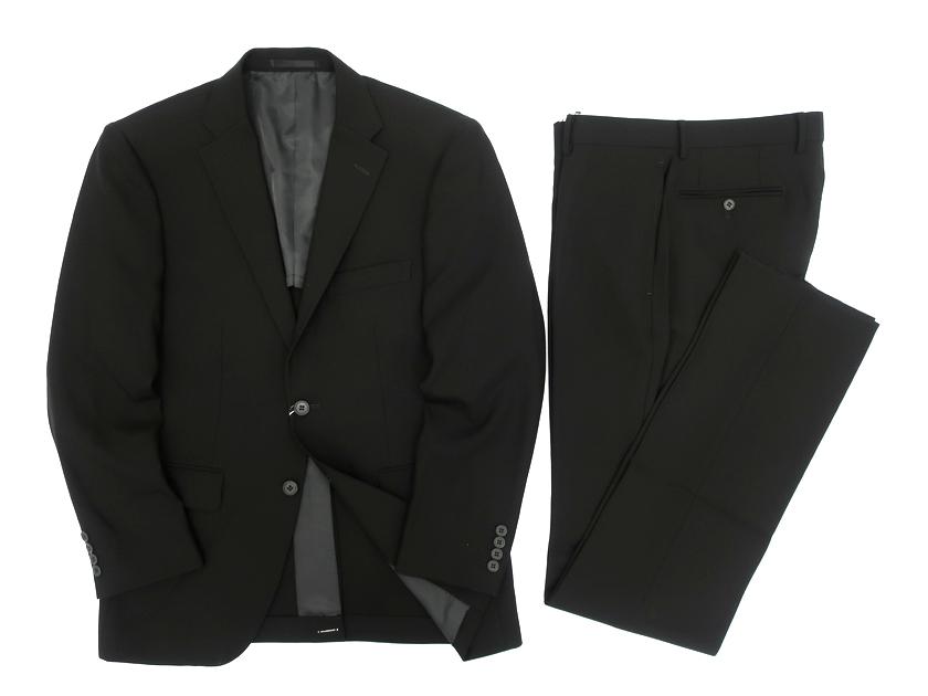 W.L.C by J.PRESS Jプレス ウール100% 2B シングルスーツ ジャケット パンツ ブラック A5▲080▼91119k08
