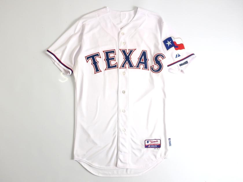 Majestic マジェスティック USA製 MLB メジャーリーグ ベースボール Texas Rangers テキサスレンジャーズ Authentic Collection COOL BASE DARVISH ダルビッシュ有選手 11 HOME プレイヤー ユニフォーム 野球 定4.1万 ホワイト 40-01 44-02▲058▼00110k08