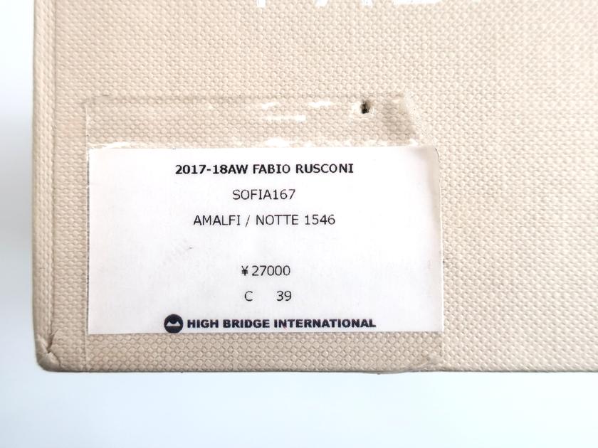 FABIO RUSCONI ファビオルスコーニ イタリア製 SOFIA 167 ラウンドトゥ チャンキーヒール スエードレザー パンプス 定2 9万 ネイビー 39▲030 91225k12FJl1cTK