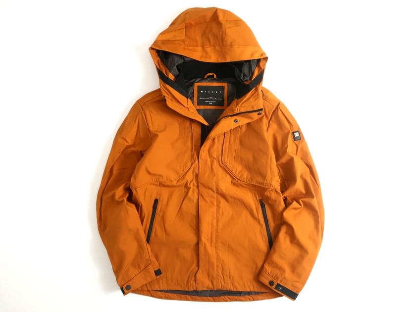 MILLET ミレー 衿リブ付 ジップアップ フーデッドジャケット マウンテンジャケット スモーキーオレンジ 100▲023▼00115k04
