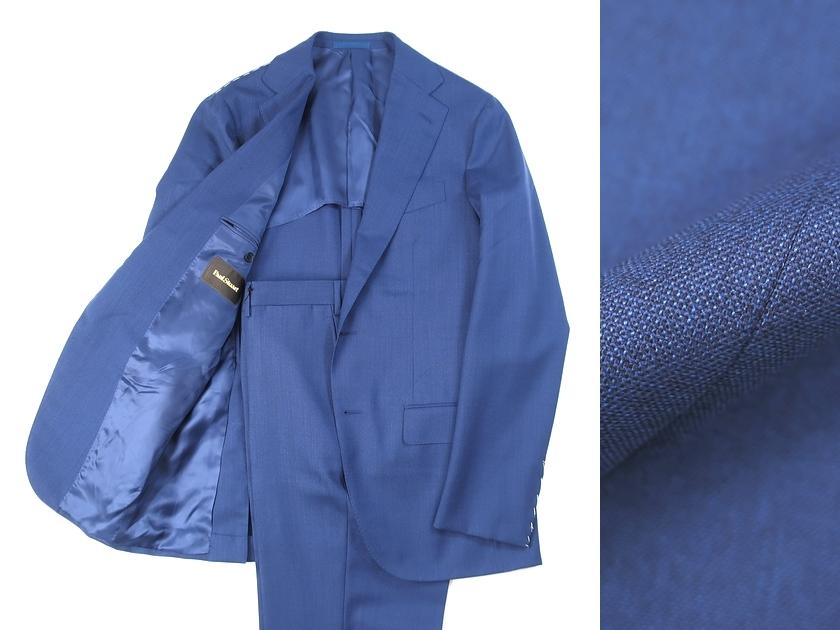 イタリア製 定価22.6万 Paul Stuart ポールスチュアート ウール100% 2B シングルスーツ ジャケット パンツ 紺 50/ki190108_2w 52/ki190108_3w
