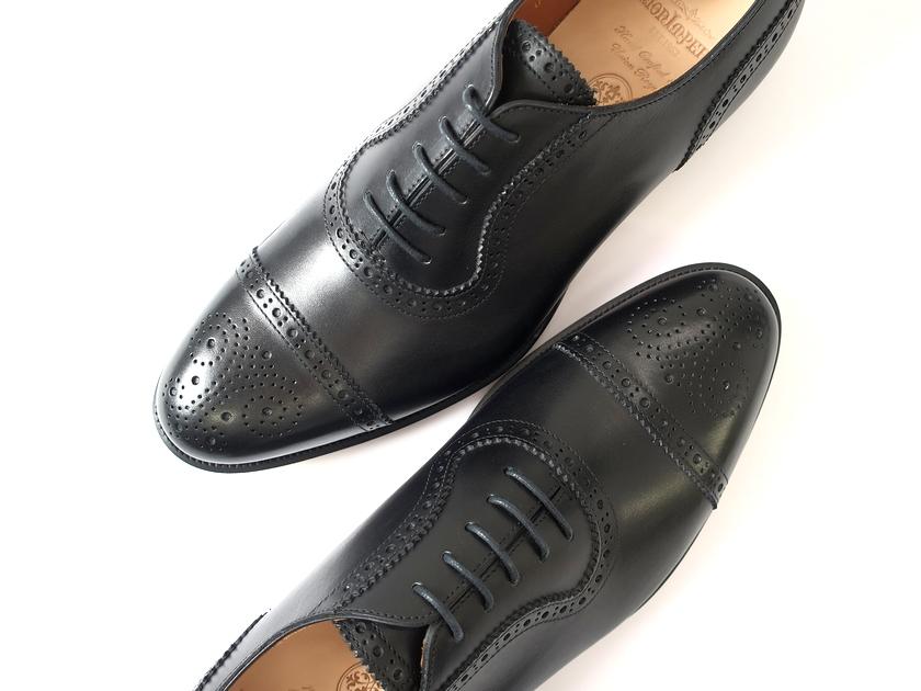 定価3.8万 UNION IMPERIAL ユニオンインペリアル U2002 グッドイヤーウェルテッド製法 アデレートセミブローグ メダリオン レザーシューズ 靴 黒 7.5 / ki181109_1w