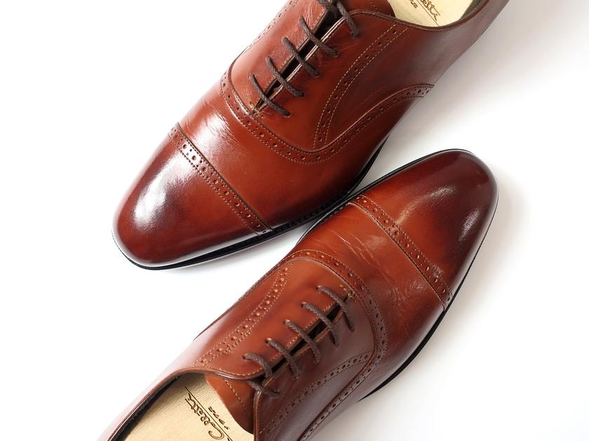 日本製 大塚製靴 Otsuka SINCE 1872 本革 Dainite SOLE 内羽根 グッドイヤーウェルト製法 メダリオン ストレートチップ レザーシューズ 靴 茶 9 / ki190207_7w