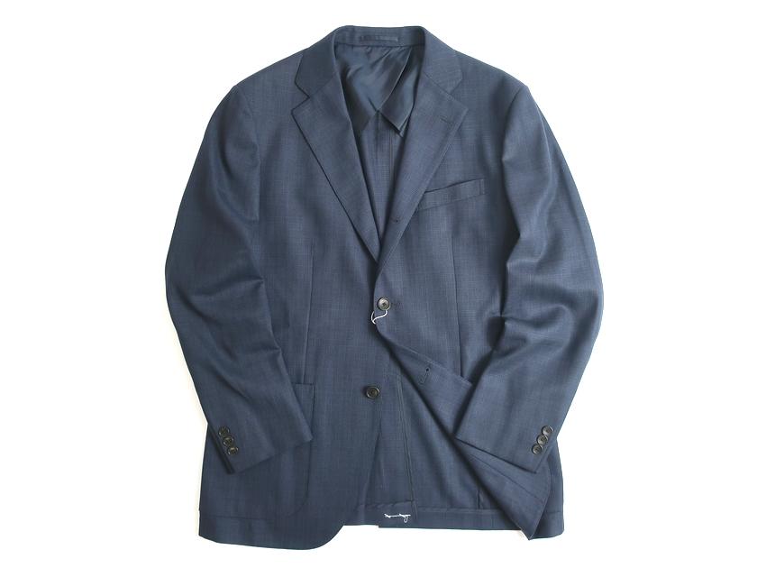 J.PRESS Jプレス ジャケット ブレザー PEPPIN MERINO使用 ウール100% チェック柄 ネイビー L-01 LL-02▲120▼90624a05