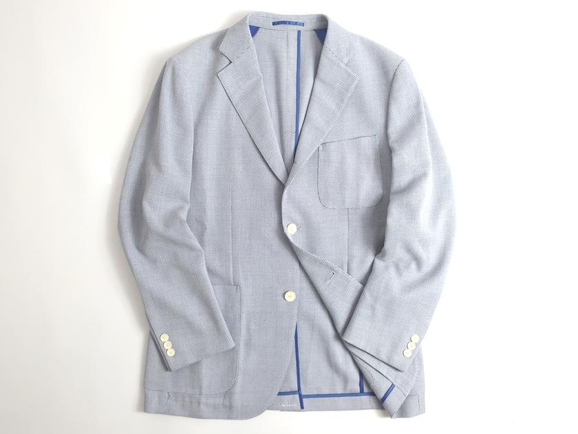 J.PRESS Jプレス ジャケット ブレザー マイクロカノコ ウール100% ブルー L-01 LL-02▲120▼90624a07
