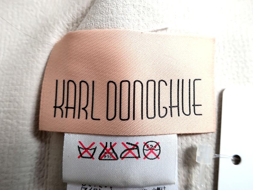 KarlDonoghueカールドノヒューDHCW5イギリス製ラムスキンムートンファーティペットマフラーKHAKI×ALMOND▲037▼90818x12