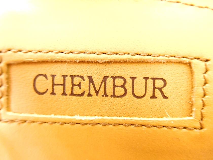 日本製 CHEMBUR. チェンバー C61185-03 ONE STRAP BELTED ヌバック アンクルストラップ チャンキー ローヒール サンダル 37 (24.0cm程度) /ky180831-3 /レディース