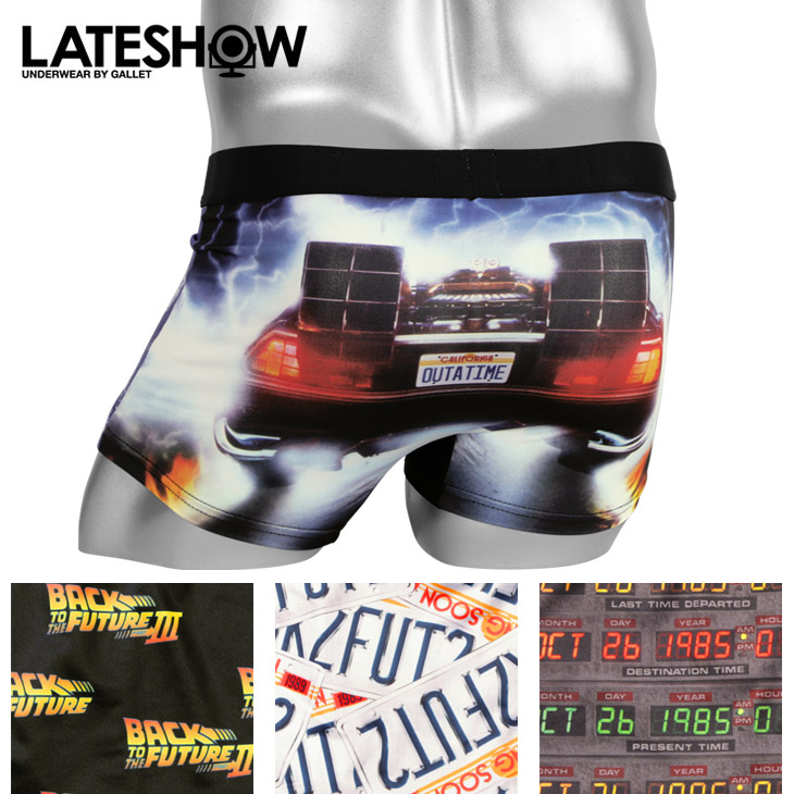 BACK TO THE FUTURE/ Back to the Future X LATESHOW/ late show boxer  underwear men underwear collaboration character SF film fashion pretty cool