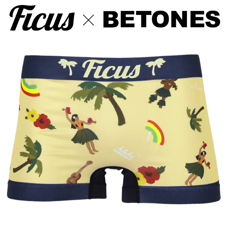 BETONES Bitones X FICUS Underwear HULA Hula Resort Southern Country Aloha Collaboration Original Birthday Present Boyfriend