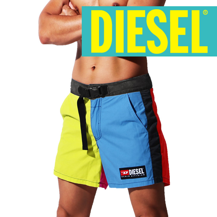 10e3aced03 crazy-ferret: Gift male in diesel swimsuit men surf underwear DIESEL BMBX- WAVE COLOR BLOCK shorts short pants board shorts logo plain fabric brand  petit ...