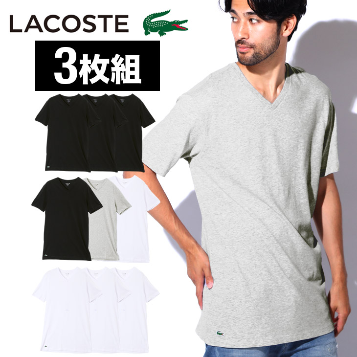 443e62b8f426 A usable basic collar is advantageous Class three pieces V neck T-shirt of  array ☆ LACOSTE (Lacoste).