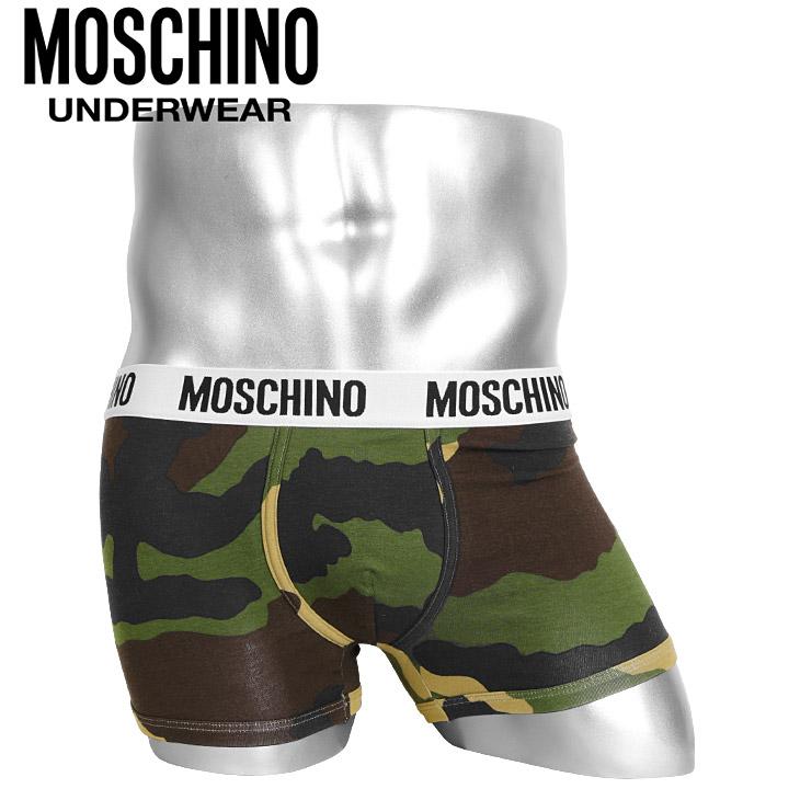 MOSCHINO/モスキーノ ボクサーパンツ メンズ 下着 Camouflage カモ柄 カモフラ 迷彩 ブランド ロゴ オシャレ プチギフト 誕生日プレゼント 父の日 彼氏 父 旦那 ギフト 記念日