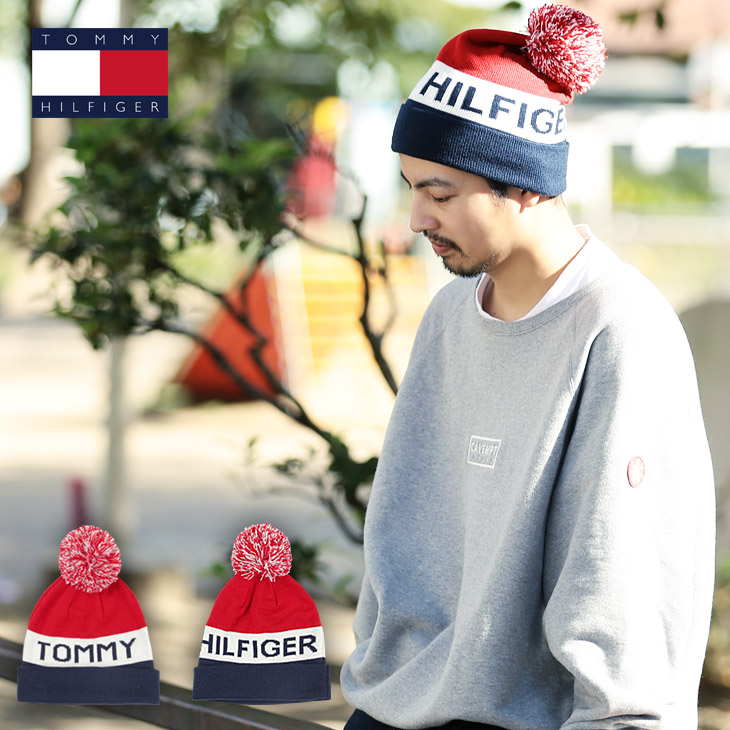 3823dc83 crazy-ferret: There is TOMMY HILFIGER/ トミーヒルフィガーニット hat men hat knit cap  ぼうし pair matching thick TOMMY SKI plonk and is dressed up on a ...