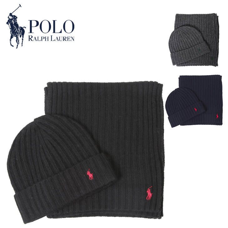 d9e290a321c A scarf X knit hat of POLO RALPH LAUREN (polo Ralph Lauren) where ♪ rib  that a set is nice is stylish.
