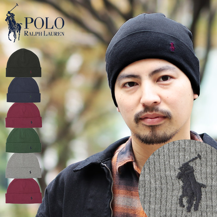 b9d7713b9a2 Polo Ralph Lauren   Polo   Ralph Lauren THERMAL CUFF HAT men s knit Cap Caps  brand Hat fashion fall winter thermal men boyfriend father birthday