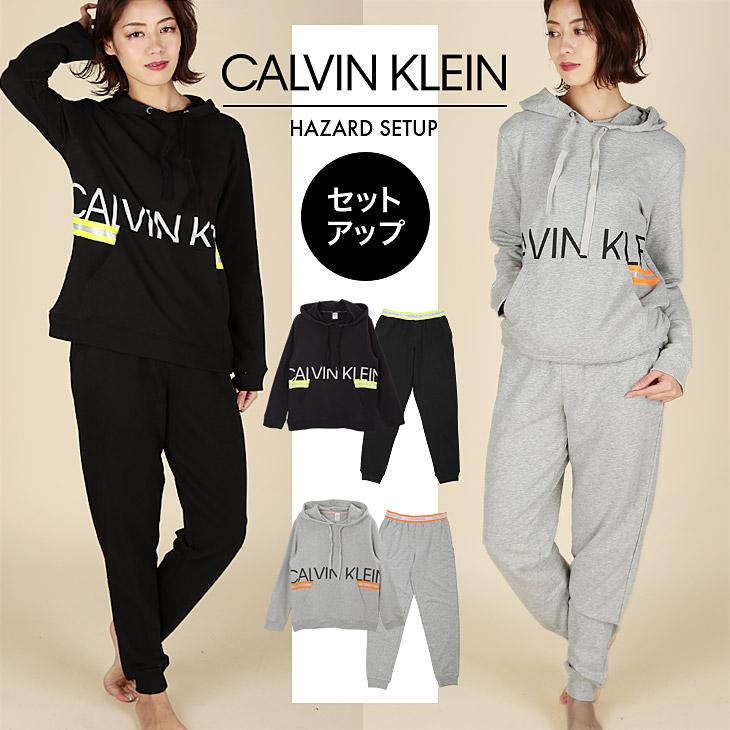カルバンクライン スウェット セットアップ 上下セット レディース Calvin Klein Jeans HAZARD かわいい 暖かい 蛍光 ブランド ロゴ ストリート カジュアル 女性 プレゼント プチギフト 誕生日プレゼント クリスマス 彼女 ギフト 記念日 bf1911