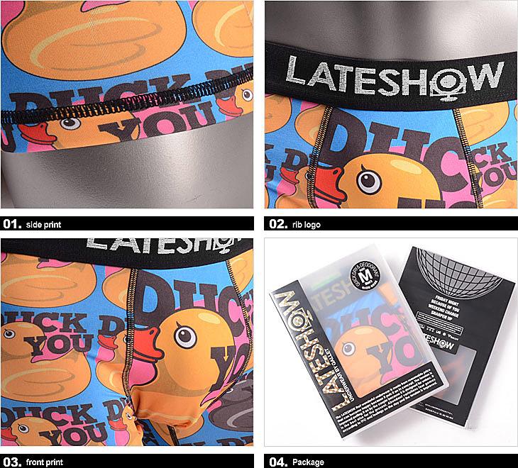LATESHOW Late Show DUCK YOU Boxer Shorts Men Underwear Duck Gifts Birthday My Boyfriend Mens Store