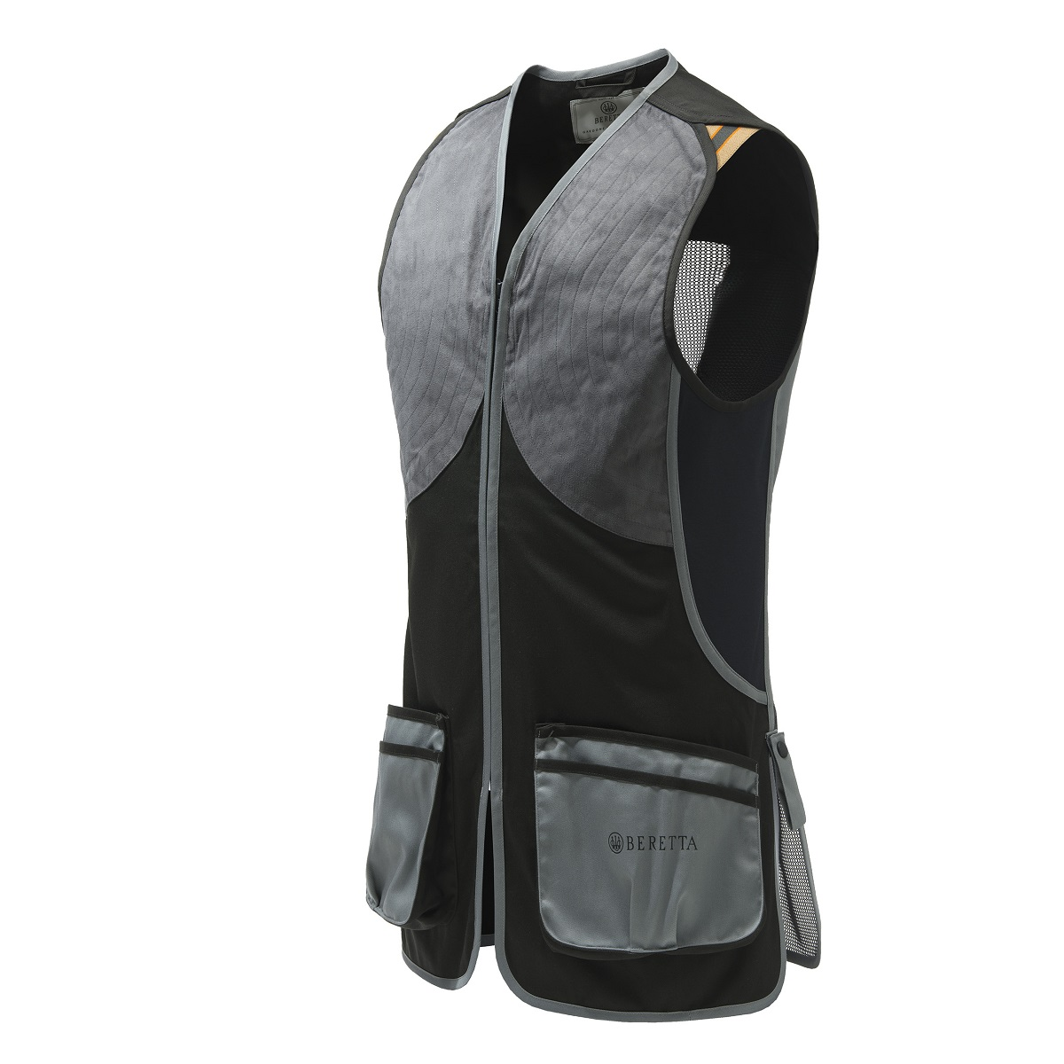 DT11 Microsuede Slide Vest - Black & Gray