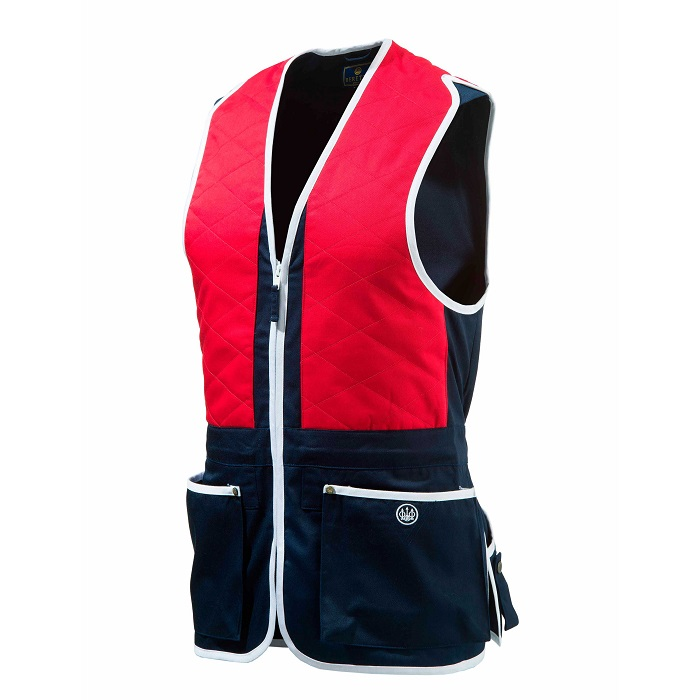 Beretta Unisex Trap Cotton Vest - RED