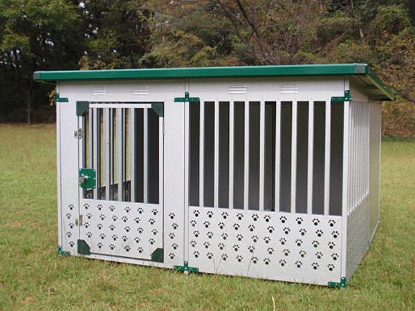メタルテック ドッグハウス DFD-2(1坪タイプ屋外用犬小屋)床なしタイプ【小型犬 中型犬 大型犬 犬小屋 】