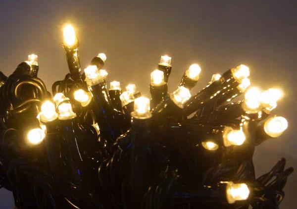 12/28-1/5冬季休業(出荷・配送等1/6以降)LED100球グリッターライト(電源部別売り)ハニーゴールド GLT100GD【コロナ産業 イルミネーション 電飾 LED ライト】