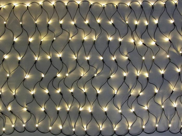 LED グリッターネットライト160球 電球色 (常点灯・電源部別売り) GLT160D 【コロナ産業 イルミネーション 屋内 電飾 LED ライト】