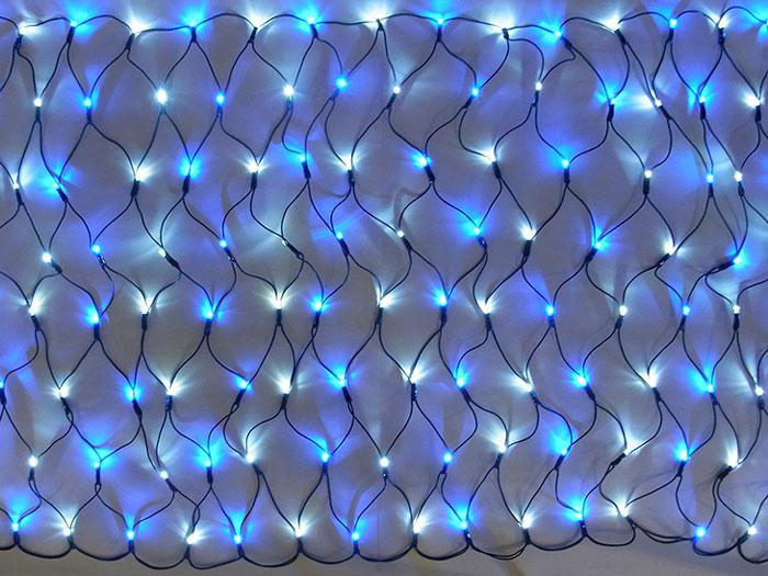 LED グリッターネットライト160球 白・青 (常点灯・電源部別売り) GLT160WB 【コロナ産業 イルミネーション 屋内 電飾 LED ライト】