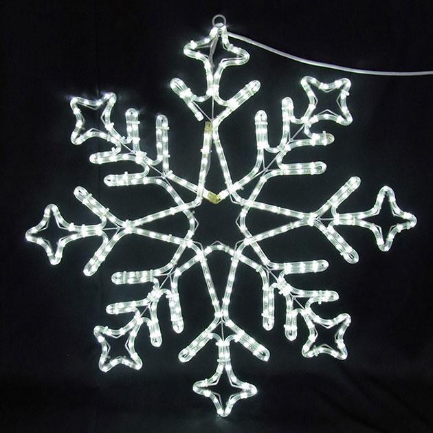 2Dスノーフレーク白色 L2DM240【コロナ産業 イルミネーション モチーフ LED 照明 ライト スノー 雪】