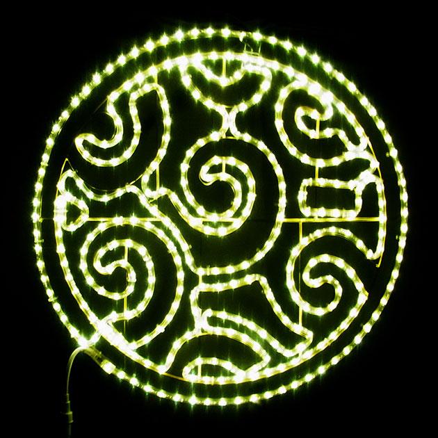 2Dストリートモチーフ デザインサークル L2DM296【コロナ産業 イルミネーション モチーフ LED 照明 ライト】